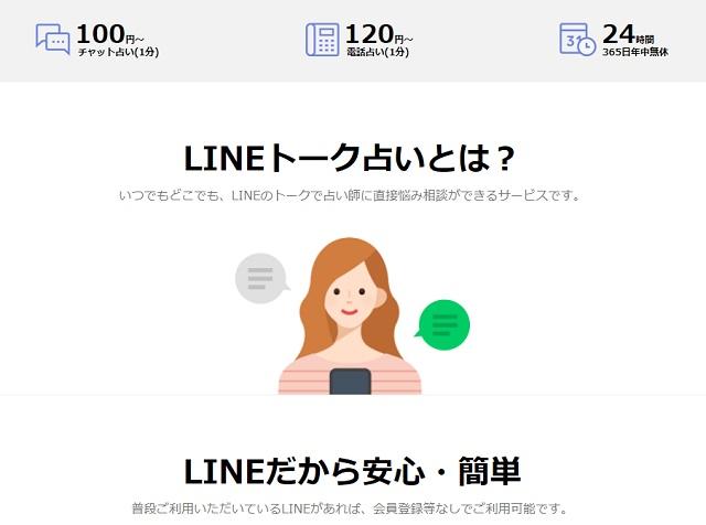 LINE占い方法画像