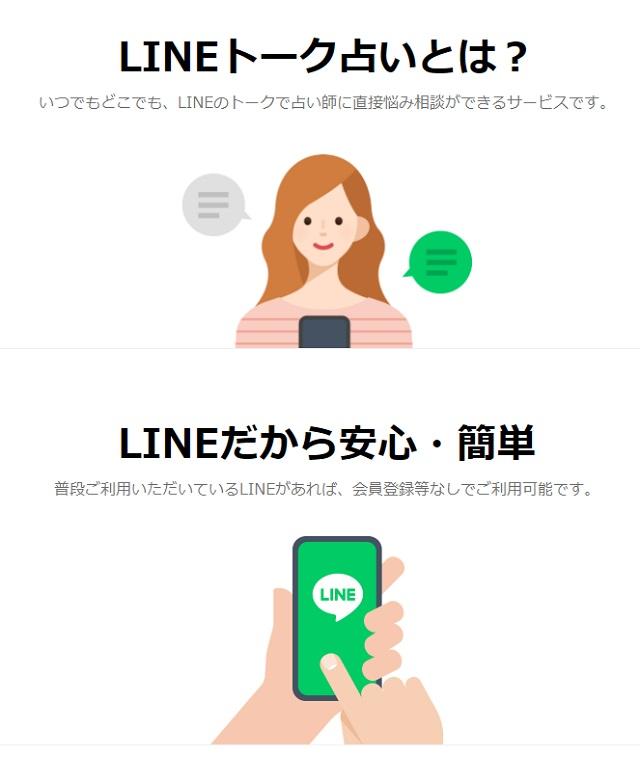 LINE占い特徴画像