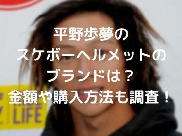 平野歩夢ヘルメットのブランド